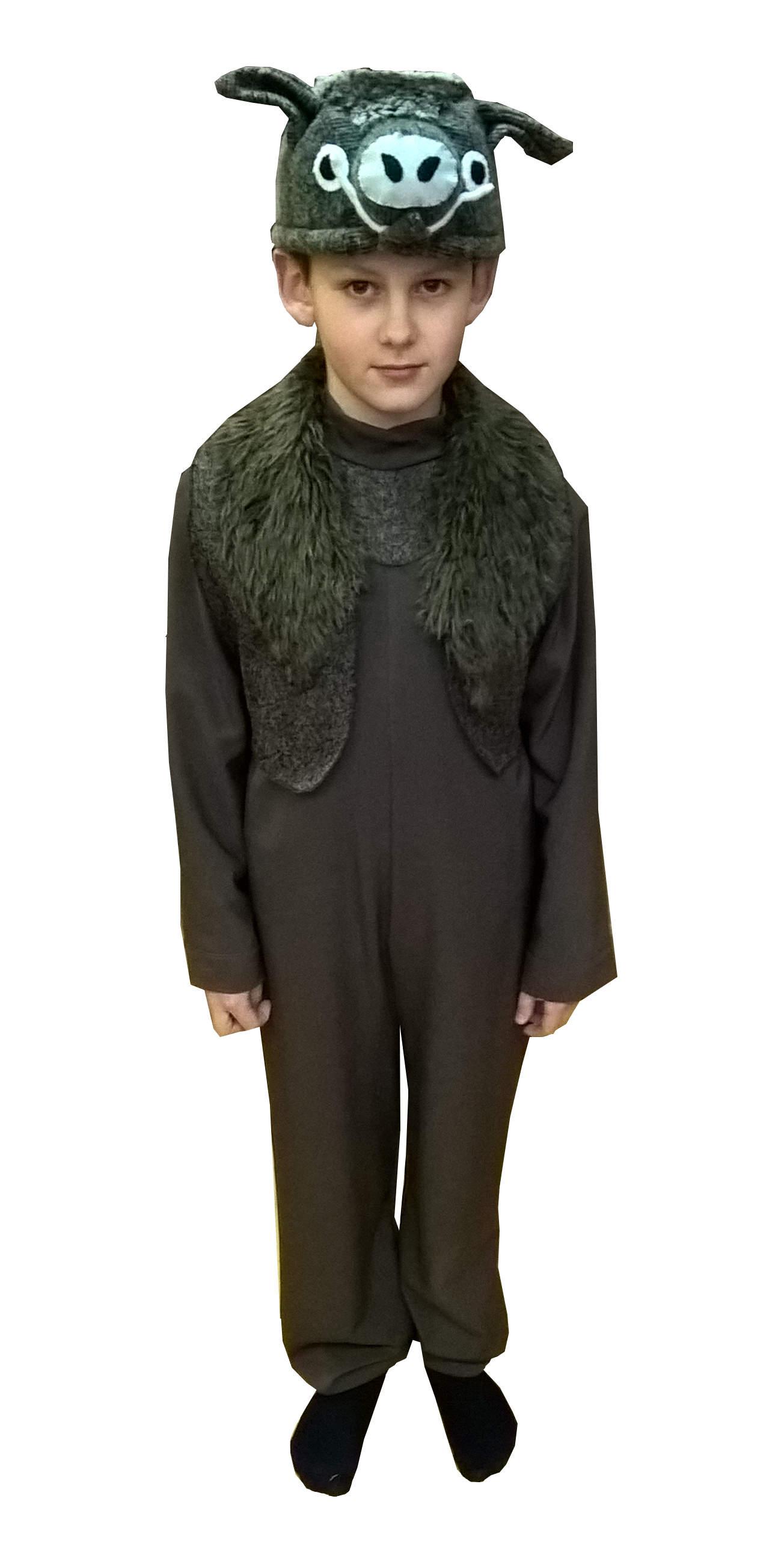 костюмный кабанa. Šerno kostiumas. Gyvunų karnavaliniai kostiumai. Karnavaliniu kostiumu nuoma vaikams Vilniuje - pasakunamai.lt