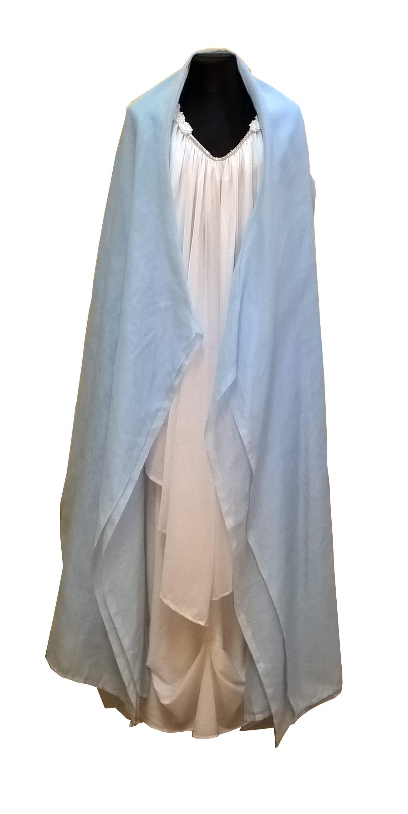 Švenčiausios Mergelės Marijos kostiumas. Įvairių pasakų ir filmų personažų karnavaliniai drabužiai. Karnavaliniu kostiumu nuoma vaikams Vilniuje - pasakunamai.lt