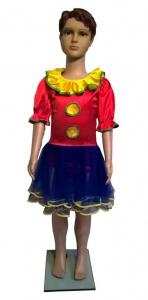 Arlekinos – klounės kostiumas. Įvairių pasakų ir filmų personažų karnavaliniai drabužiai. Karnavaliniu kostiumu nuoma vaikams Vilniuje - pasakunamai.lt