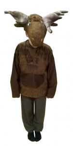 костюм лося. Briedžio kostiumas. Gyvunų karnavaliniai kostiumai. Karnavaliniu kostiumu nuoma vaikams Vilniuje - pasakunamai.lt