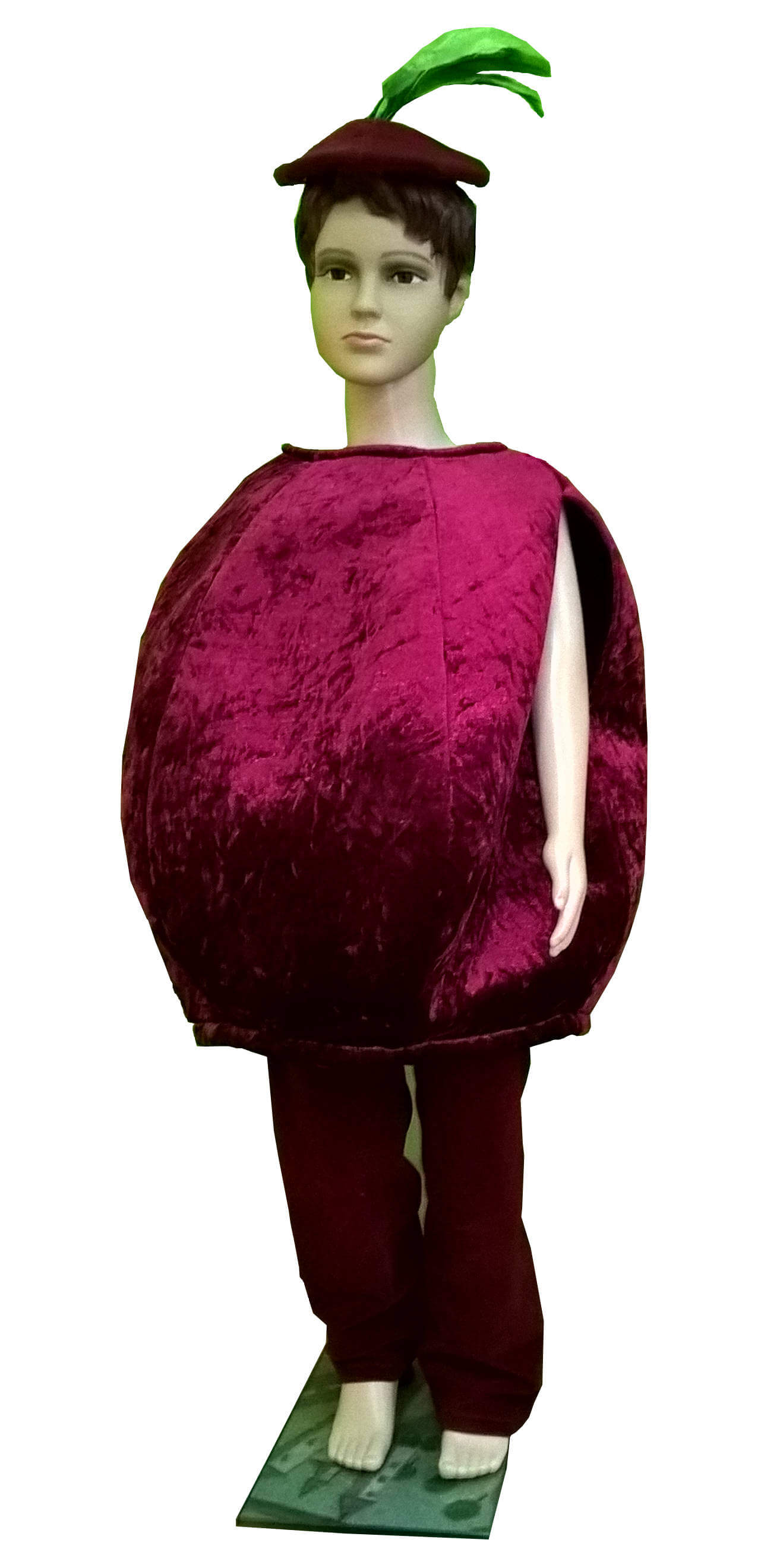 костюм свеклы. Buroko kostiumas. Burokėlio kostiumas. Karnavaliniu kostiumu nuoma vaikams Vilniuje - pasakunamai.lt