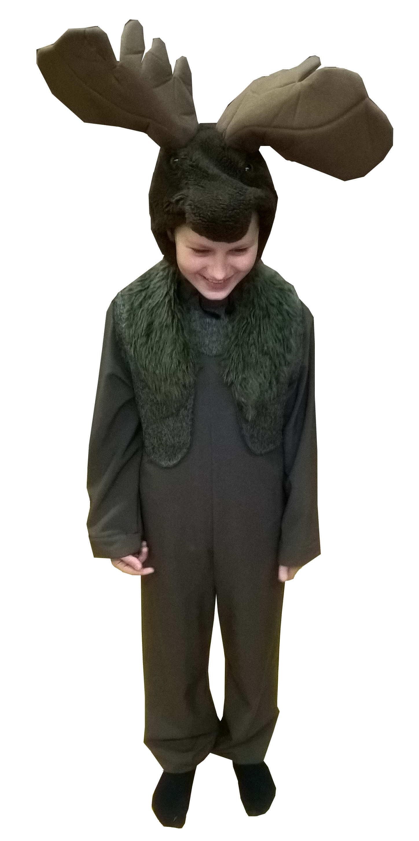 костюм лося. Elnio kostiumas. Gyvunų karnavaliniai kostiumai. Karnavaliniu kostiumu nuoma vaikams Vilniuje - pasakunamai.lt