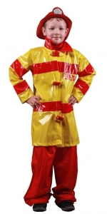 Gaisrininko kostiumas. Profesijų karnavaliniai kostiumai. Karnavaliniu kostiumu nuoma vaikams Vilniuje - pasakunamai.lt