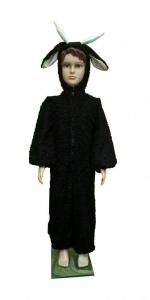 костюм черного козленка. Juodojo ožiuko kostiumas. Gyvunų karnavaliniai kostiumai. Karnavaliniu kostiumu nuoma vaikams Vilniuje - pasakunamai.lt