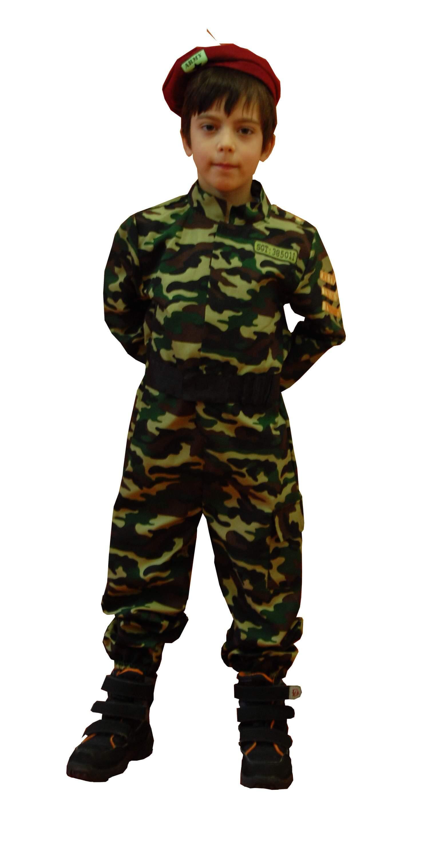 Kareivio kostiumas. Profesijų karnavaliniai kostiumai. Karnavaliniu kostiumu nuoma vaikams Vilniuje - pasakunamai.lt