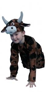 костюм коровы. Karvytės- buliuko kostiumas. Gyvunų karnavaliniai kostiumai. Karnavaliniu kostiumu nuoma vaikams Vilniuje - pasakunamai.lt