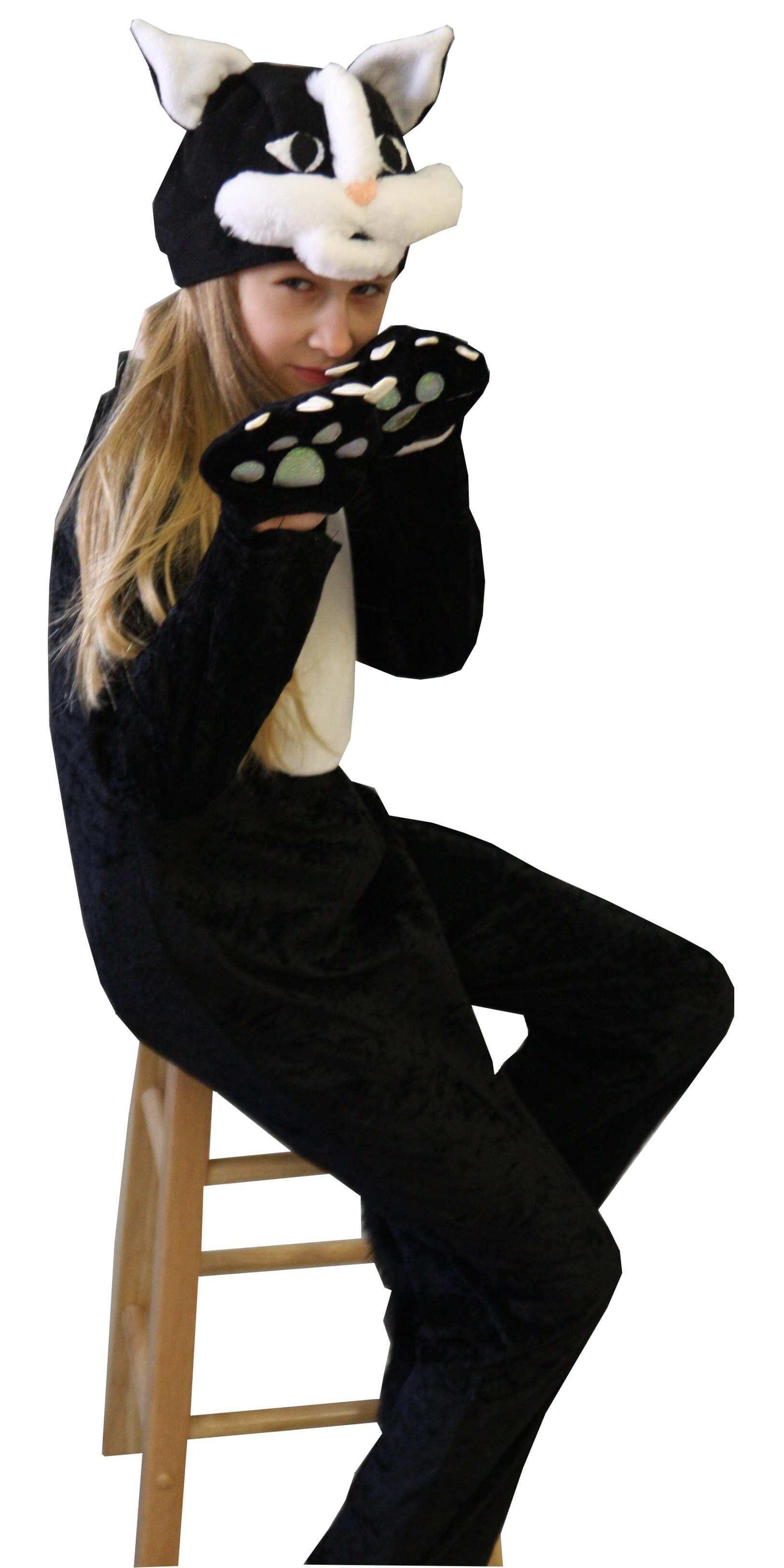 новогодний костюм кошки. Katės-katino kostiumas. Gyvunų karnavaliniai kostiumai. Karnavaliniu kostiumu nuoma vaikams Vilniuje - pasakunamai.lt