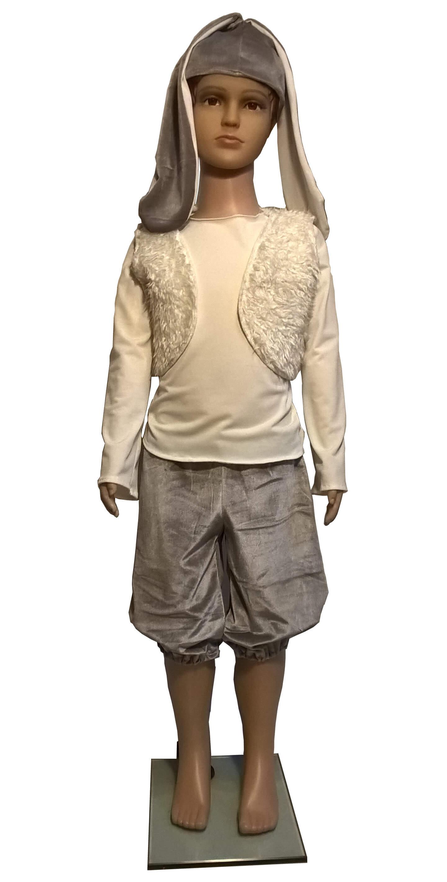 Kiškio kostiumas. Gyvunų karnavaliniai kostiumai. Karnavaliniu kostiumu nuoma vaikams Vilniuje - pasakunamai.lt