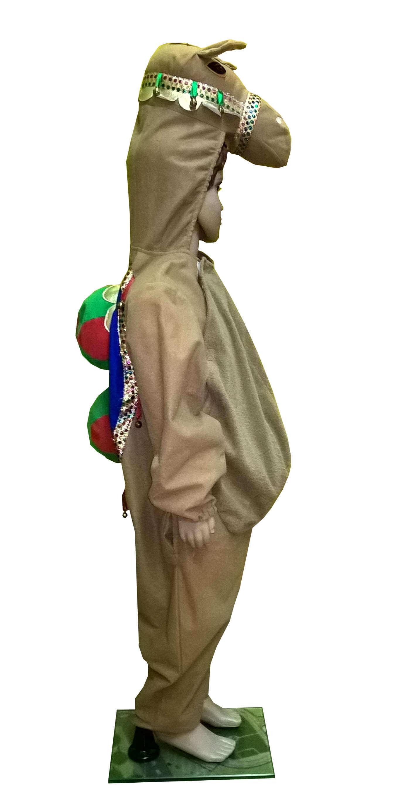 костюм верблюда. Kupranugario kostiumas. Gyvunų karnavaliniai kostiumai. Karnavaliniu kostiumu nuoma vaikams Vilniuje - pasakunamai.lt