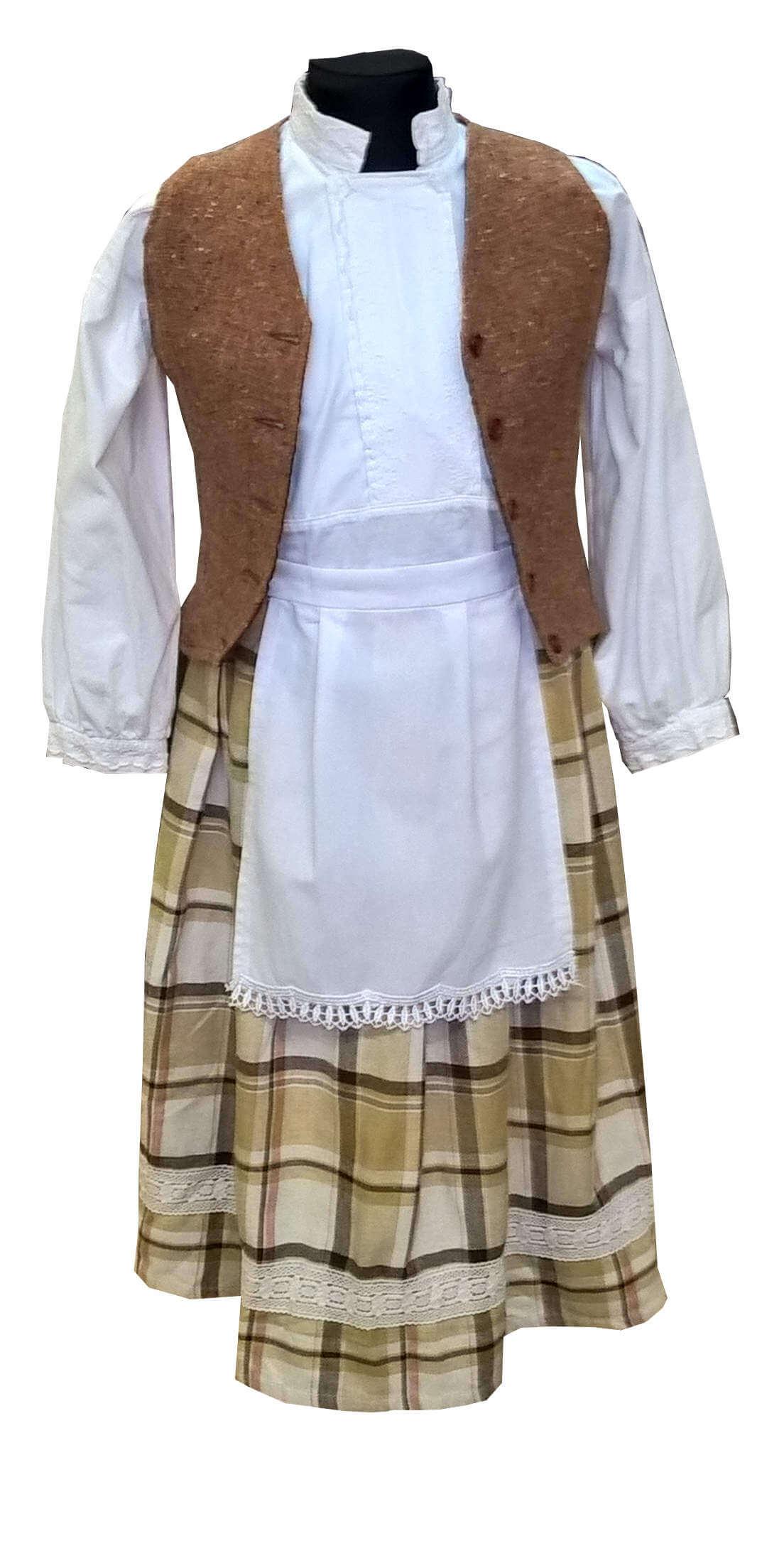 Lietuvaitės kostiumas. Tautų karnavaliniai kostiumai. Karnavaliniu kostiumu nuoma vaikams Vilniuje - pasakunamai.lt