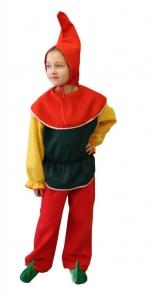 Nikštuko kostiumas. Nikštukas - nuomoja. Новогодний костюм гнома.  костюм гнома. Karnavaliniu kostiumu nuoma vaikams Vilniuje - pasakunamai.lt