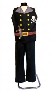 костюм пирата. Костюм Разбойника. Pirato kostiumas. Kostiumu nuoma vaikams Vilniuje - pasakunamai.lt