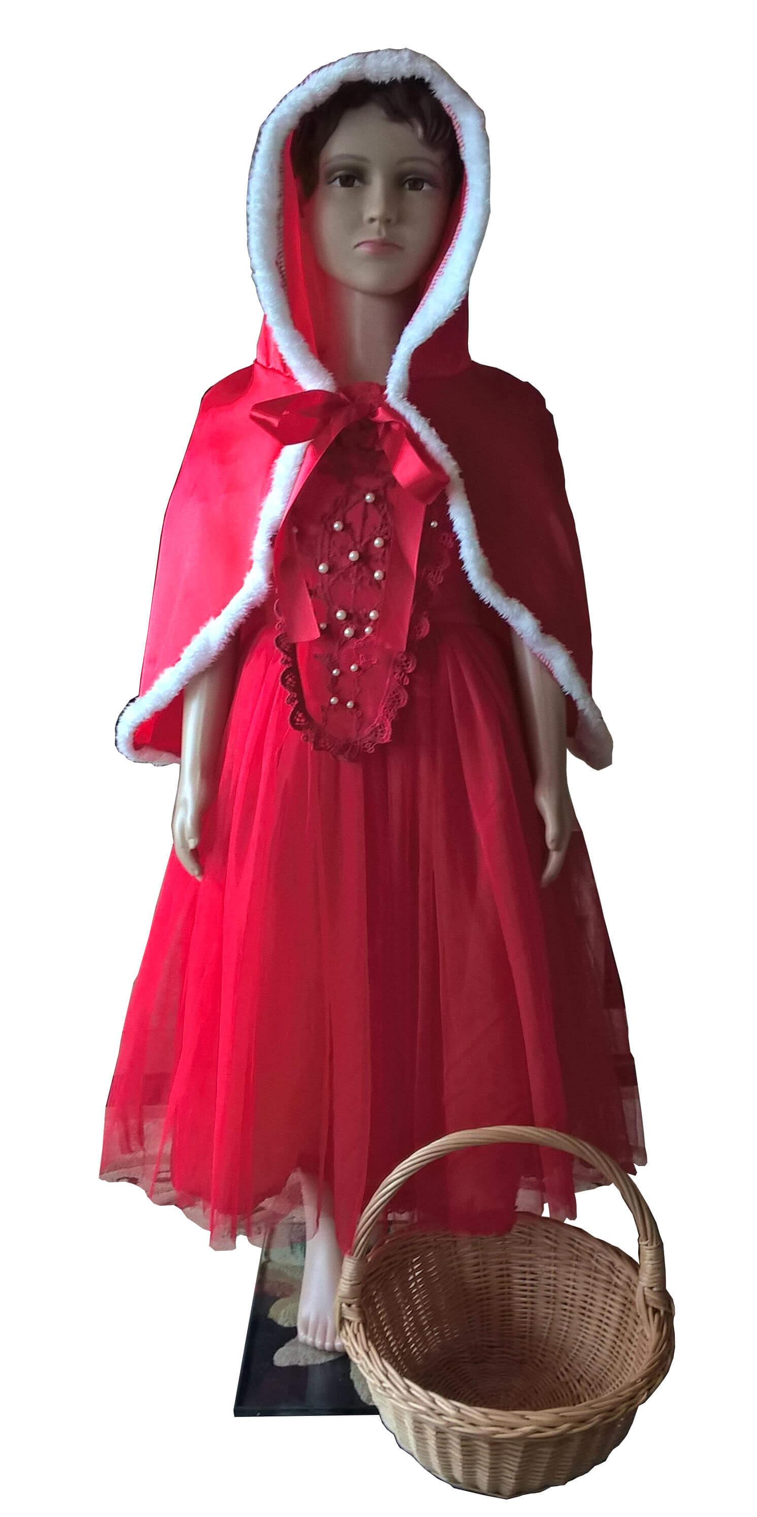 Raudonkepuraitės kostiumas. Įvairių pasakų ir filmų personažų karnavaliniai drabužiai. Karnavaliniu kostiumu nuoma vaikams Vilniuje - pasakunamai.lt