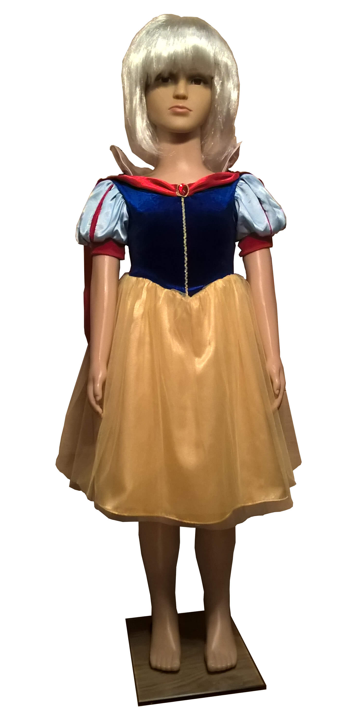 Snieguolės kostiumas iš pasakos septyni nykštukai ir snieguolė. Karnavaliniu kostiumu nuoma vaikams Vilniuje - pasakunamai.lt