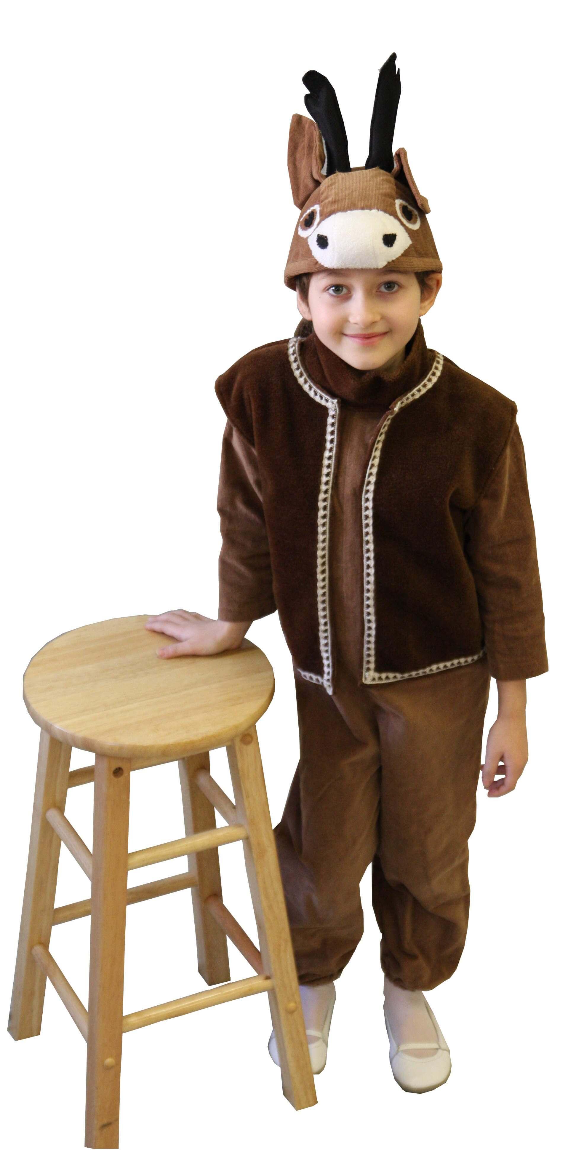 Stirniuko kostiumas. Gyvunų karnavaliniai kostiumai. Karnavaliniu kostiumu nuoma vaikams Vilniuje - pasakunamai.lt