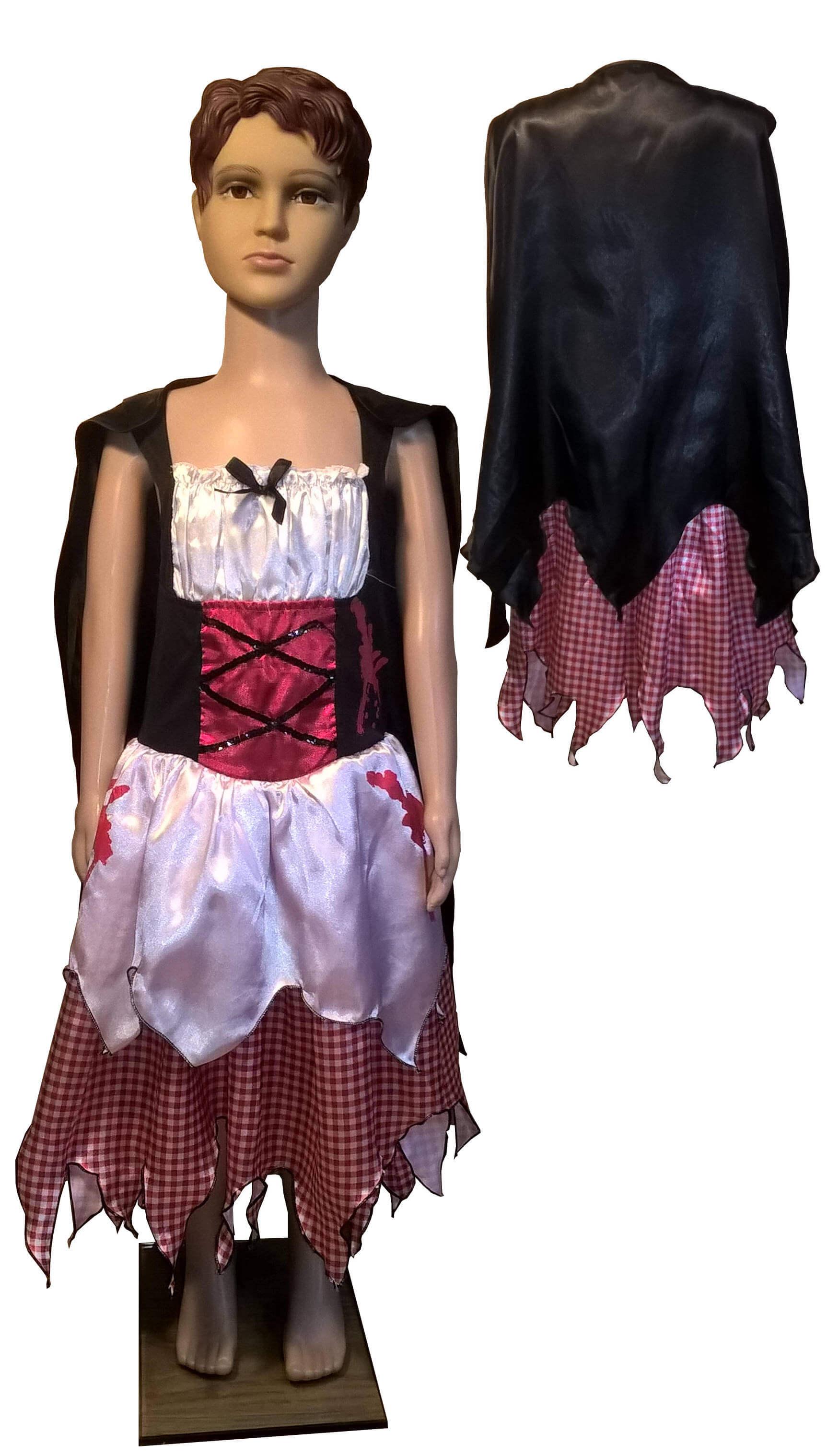 Vampyrės kostiumas. Helovino karnavaliniai drabužiai. Karnavaliniu kostiumu nuoma vaikams Vilniuje - pasakunamai.lt