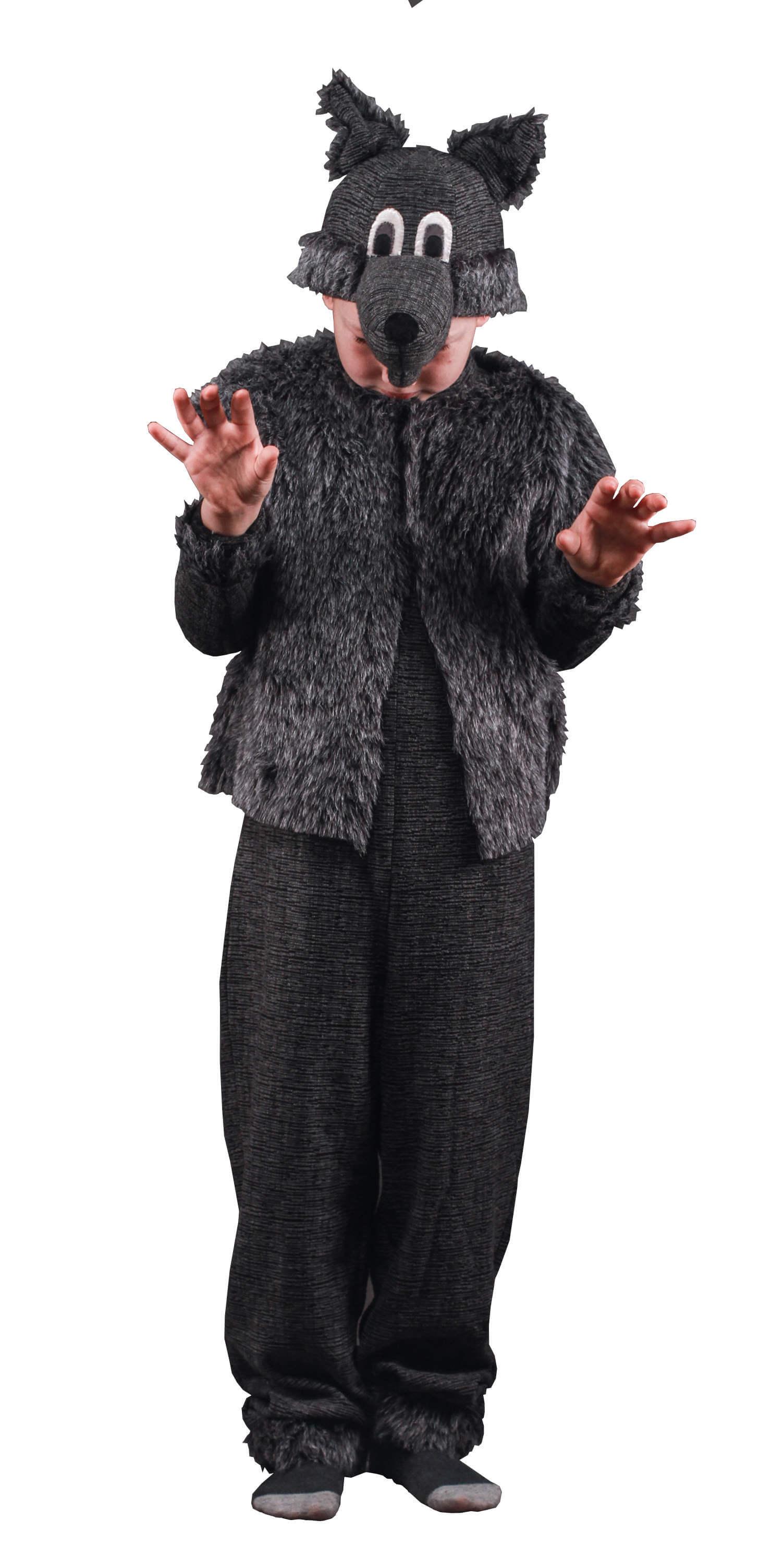 костюм волка. Vilko kostiumas. Gyvunų karnavaliniai kostiumai. Karnavaliniu kostiumu nuoma vaikams Vilniuje - pasakunamai.lt