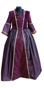 baroko stiliaus suknelė. renesanso stiliaus suknelė. платэ придворны для девочки.  XIXa. suknelė. Karalaitės suknelė. Dvariškės suknelės. Karnavalinių kostiumų nuoma Vilniuje - pasakunamai.lt
