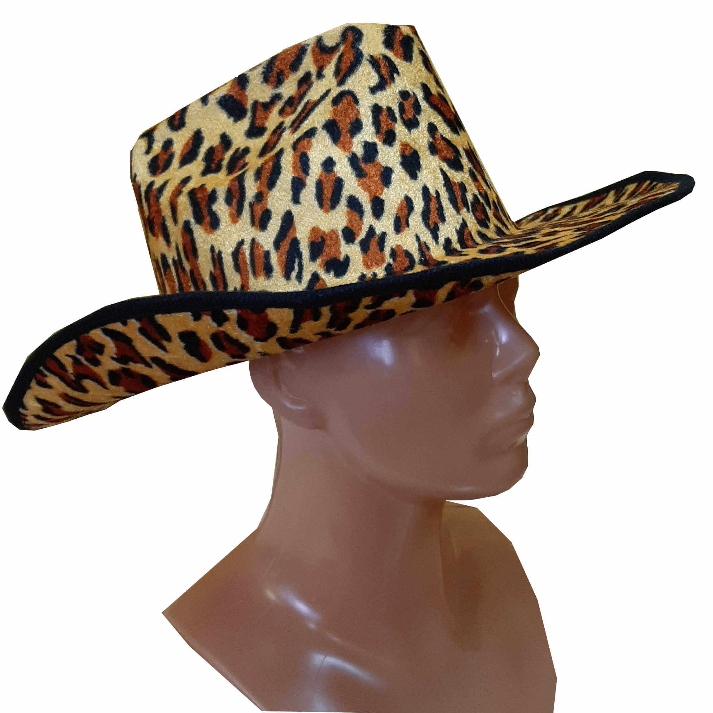 Leopardo spalvos skrybėlė. Karnavaliniu kostiumu nuoma Vilniuje - pasakunamai.lt